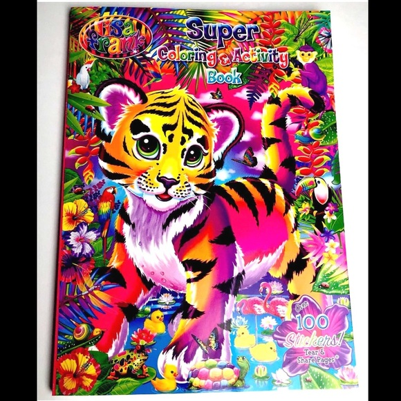 - Lisa Frank Other Lisa Frank Super Coloring Book Poshmark